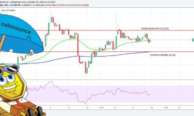 TRX is in consolidation. The bullish pressure from the support area at $0.02470 of 17th October was sustained by the 4-hour opening candle of 18th October